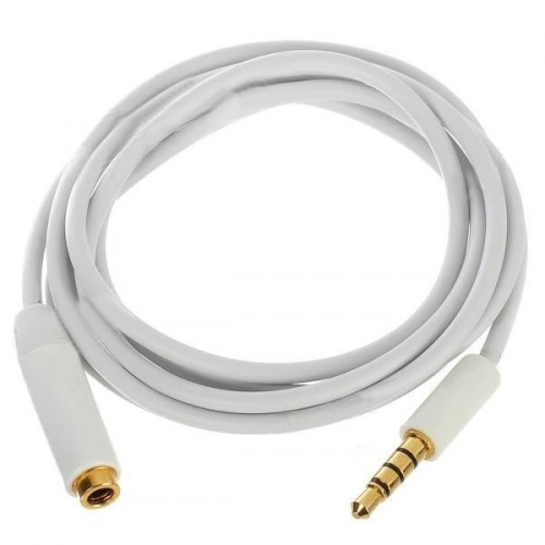 Audio prodlužovací kabel iPhone 5/4 / 4S / 3 / iPad / iPod - bílý