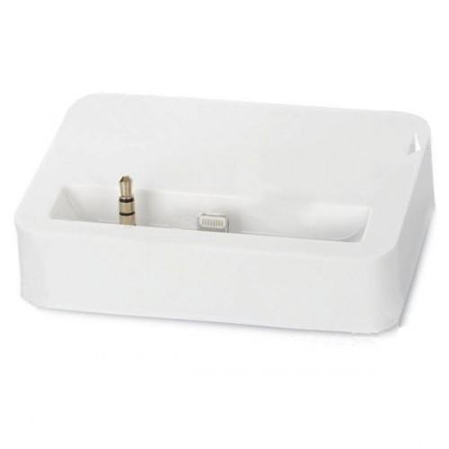 Dokovací stanice pro iPhone 5 s 3.5mm jackem - bílá