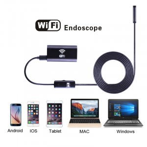Wifi endoskop pro iOS, Android, Windows 2m, Hard